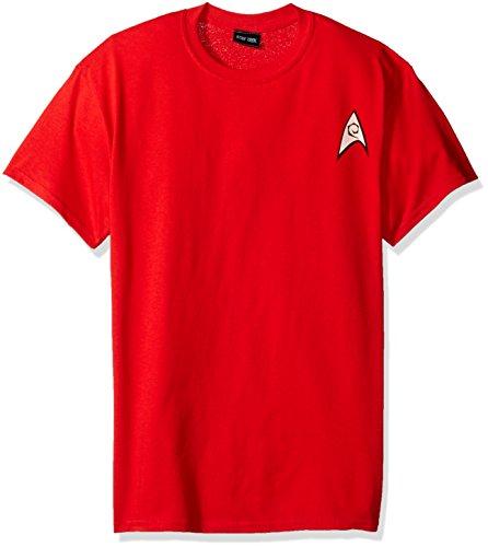 Trevco Men's Star Trek Engineering Uniform T-Shirt, Red, 2XL (Star Trek Enterprise Uniform)