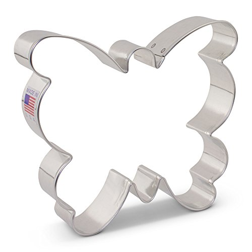 (Large Butterfly/Moth Cookie Cutter - 4.25 Inch - Ann Clark - US Tin Plated)