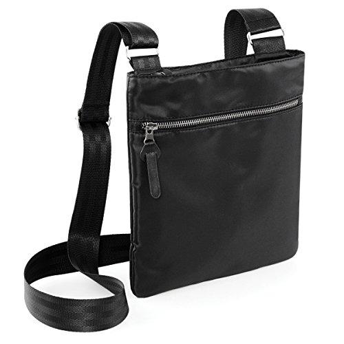 BagBase bolsa de hombre Onyx-a traves del cuerpo del bolso 23x26x1cm 2.5L Negro Black