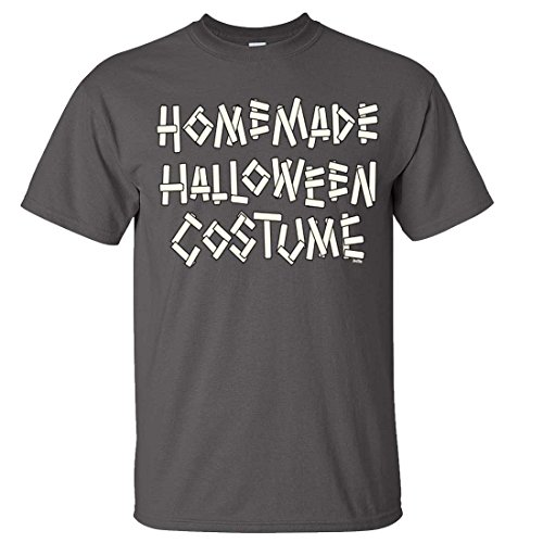 Homemade Halloween Costume T-shirt/tee - Charcoal Medium (Homemade Halloween Costumes For Men)