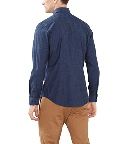 ESPRIT Collection, Camisa para Hombre Azul (NAVY 400)