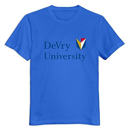royalblue-devry-university-100-cotton-t-shirt-for-men-size-xl
