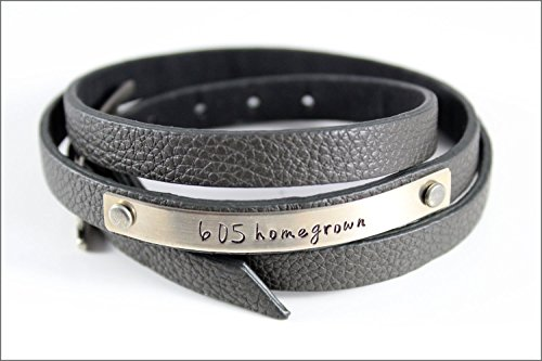 Custom Area Code Bracelet   Leather Wrap Bracelet, Personalized Women's Bracelet, South Dakota Homegrown, Trendy Gifts for Her