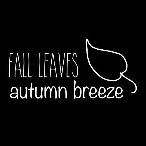 Creative Concepts Ideas Fall Leaves Autumn Breeze CCI Decal Vinyl Sticker|Cars Trucks Vans Walls Laptop|White|5.5 x 3.0 in|CCI2543 (3 Men And A Baby Ghost In Window)