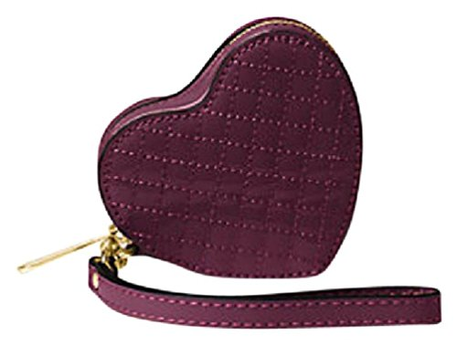 Price comparison product image Michael Kors Patent Leather Heart Coin Purse Plum 32F6GH9P1A