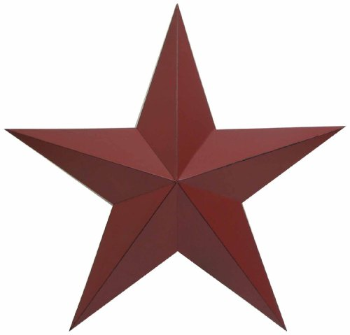 Barn Large Star - Craft Outlet Antique Star Wall Decor, 24-Inch, Barn Red