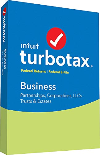 TurboTax Business 2018 (for Windows) Tax Software (Llc C Corp S Corp Or Partnership)