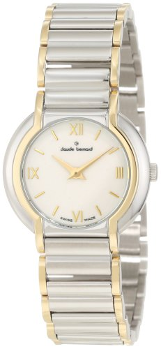UPC 846341053998, Claude Bernard Women's 16062 357J NAID Classic Ladies Round Mother-of-Pearl Steel and Gold PVD Watch