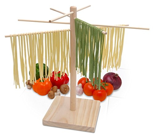 Bellemain Large Wood Pasta Drying Rack (Pasta Drying Wooden Rack)