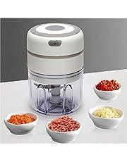 Mini-matberedare, köttkvarn-hackare trådlös bärbar 250 ml med USB-laddning, lätt att rengöra, 3 vassa blad för chilikött frukt grönsaker ingefära lök vitlök