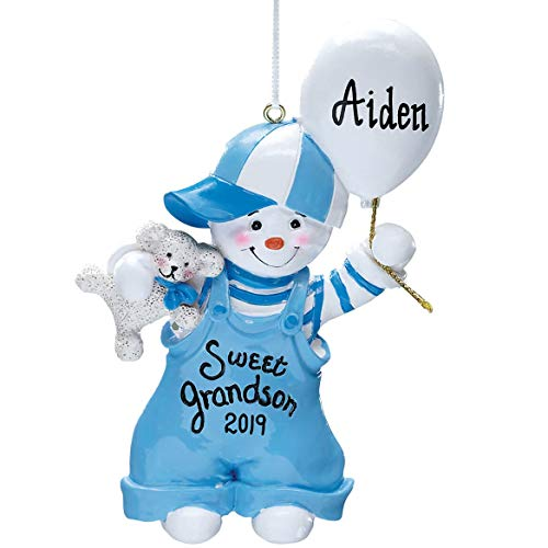 Miles Kimball Personalized Sweet Grandson Ornament