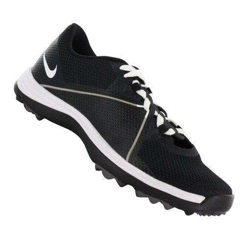 Nike Golf women's Lunar Summerlite2 Golf Shoe,Black/White/Dark Grey,7.5 M US
