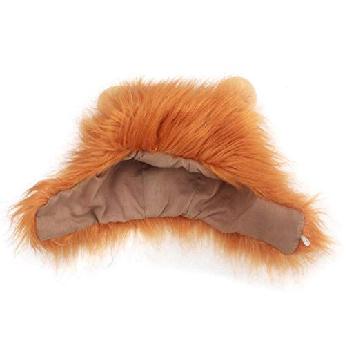 (Laz-Tipa - Fancy Pet Hat Costume Cute Lion Mane Cat Wig Halloween Christmas party Dress Up headgear lion's mane cat hat)