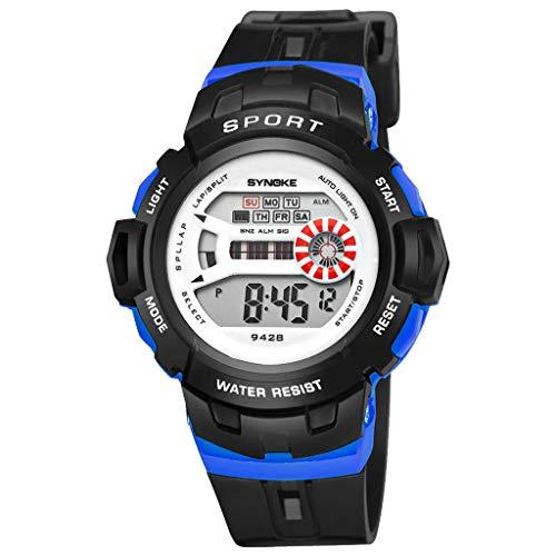 Children Analog Digital Display Multifunction Dual Time Alarm Stopwatch Backlight 51M Waterproof Sports Watch Green