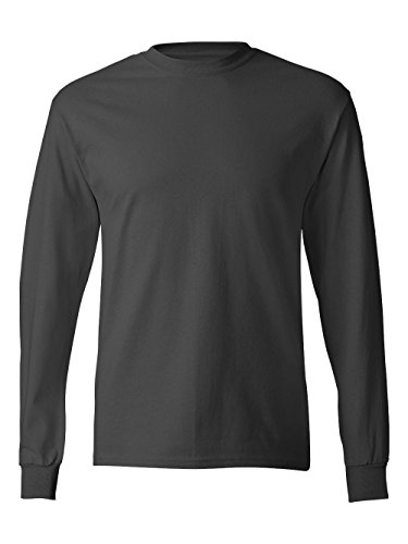 - Hanes Men's ComfortSoft Long Sleeve Crewneck T-Shirt, Smoke Gray, Medium