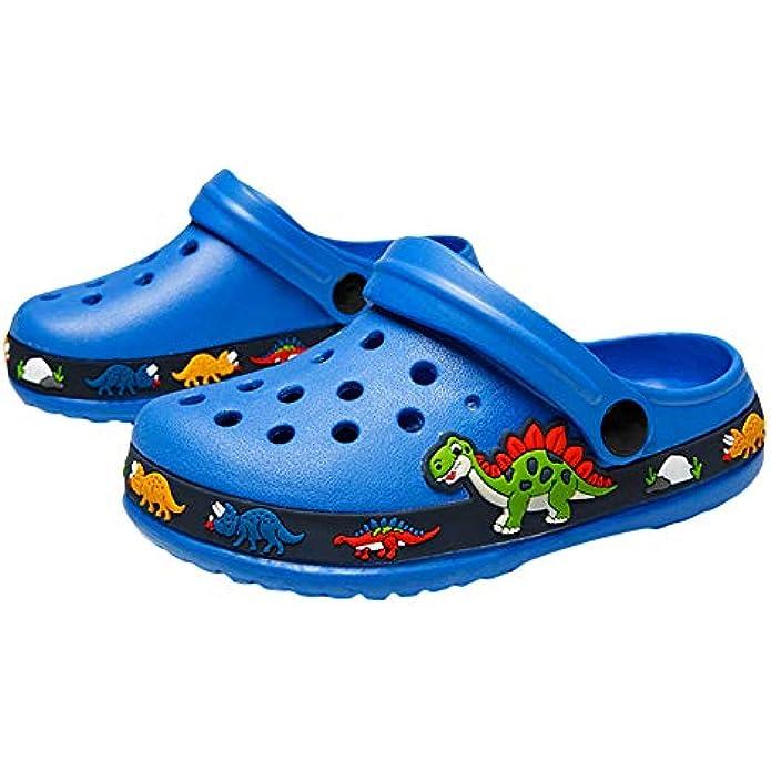 OHSNMAKSL Kid Garden Clogs Slip On Water Shoes Boys Slippers Girls Sandals Sneakers for Children Beach Pool Shower
