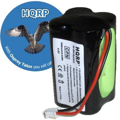 HQRP Extended 1800mAh Battery compatible with Summer Infant McNair 0209A, 02090, 0210A, 02720, HK1100AAE4BMJS, Dantona CUSTOM-143 Day and Night Baby Video Monitor + Coaster by HQRP