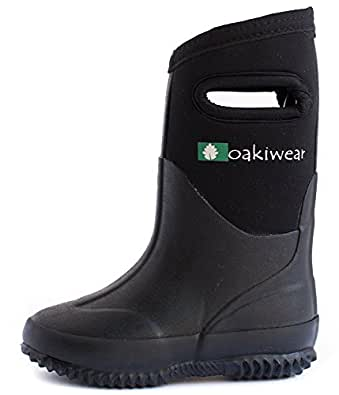 Neoprene Rain Boots (6, Black)