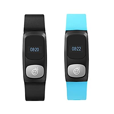 HeHa Water Resistants Fitness Trackers Calorie Counter Watch for Couples Gifts with Pedometer 2 Packs