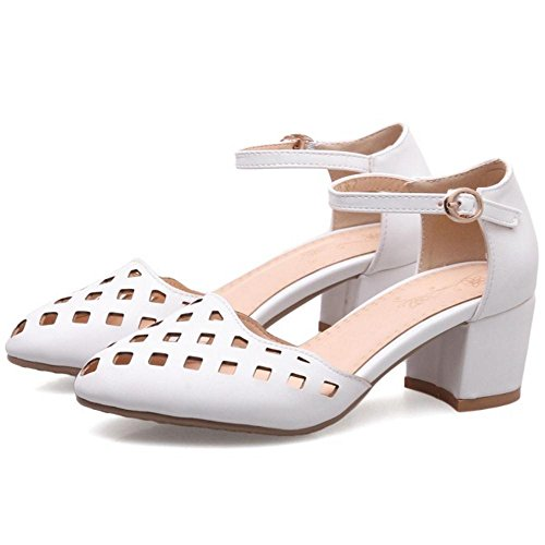 Strap Women Summer JOJONUNU White Ankle Sandals xA4qBEYB