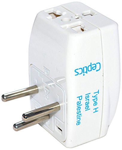 Ceptics 3 Outlet Travel Adapter Plug Type H for Israel