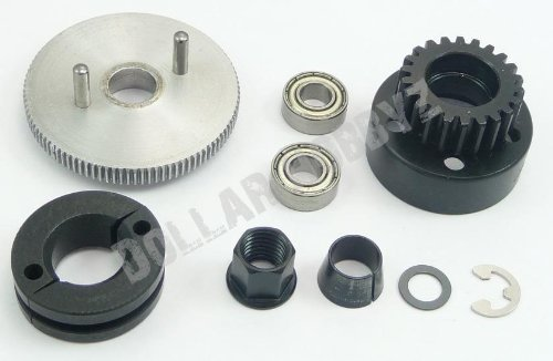 (Traxxas T-Maxx 3.3 * 22T STEEL CLUTCH BELL, SHOES, SPRING & ALUMINUM FLYWHEEL*)