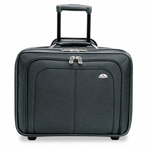 Samsonite 110211041 Mobile Office Rolling Notebook Case Nylon 17 1/2 x 9 x 14 Black by Samsonite