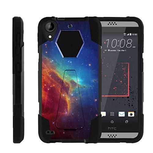 TurtleArmor | Compatible with HTC Desire 530 Case | Desire 630 | Desire 550 [Dynamic Shell] Hybrid Dual Layer Hard Shell Kickstand Silicone Case - Colorful Nebula Galaxy (Virgin Mobile Htc Desire 4g)