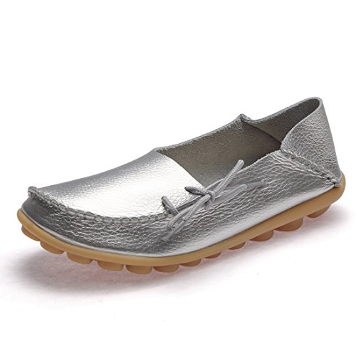 Btdream Women S Leather Slip On Loafers Moccasins Casual