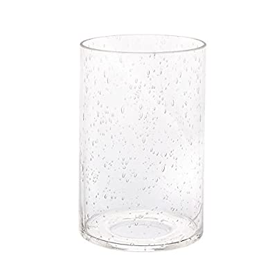Eumyviv Cylinder Clear Bubble Glass Lamp Shade