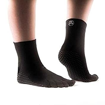 PhysioWorld Calcetines antideslizante para Yoga/Pilates/Fitness, color negro, M: Amazon.es: Deportes y aire libre