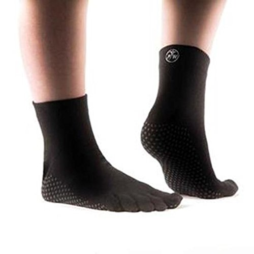PhysioWorld Full Toe Socks - Black - Medium