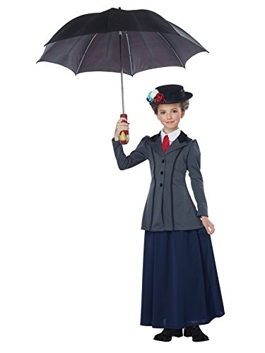 English Nanny - Child Costume Gray/Navy -