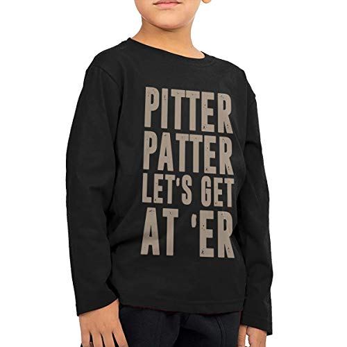 Pitter Patter LetterKenny Kids Long Sleeve T-Shirt 100% Cotton Black