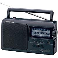 Panasonic RF - 3500e9 - K 便携式收音机 ( 模拟 - Tuner ( FM / MW / LW / KW ) , 网 - 和电池供电 ) 黑色