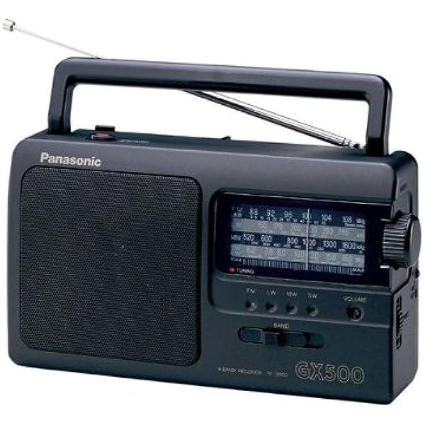Panasonic RF-3500E9-K - Radio Portátil (FM/AM/LW/SW, 1000 mW, Largo Alcance, Sintonizador Analógico, Fácil y Simple de Usar) Color Negro: BLOCK: Amazon.es: Electrónica