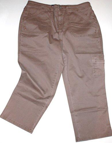 Bandolino Women's Selene Skinny Fit Cargo Capri Pants (10...