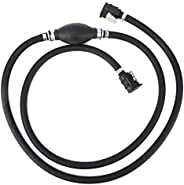 Fuel Line Assembly, Marine Johnson 3/8in Marine Outboard Boat Motor Fuel Gas RVs Hose Line Assembly Primer Bul