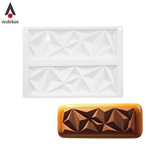 (Wulekue Silicone Chocolate Diamond Shape Cake Mold For Frozen Fondant Mould Sugar Cakes Decorating Tool Baking Tools)