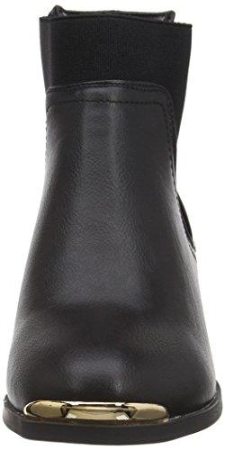 New Look Wide Foot Detal Donnie, Botines para Mujer Negro - Black (01/Black)