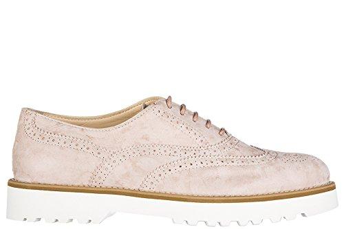 Hogan clásico zapatos de cordones mujer en ante nuevo brogue route francesina ro