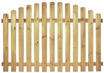 nach oben gebogene Ausf/ührung kesseldruckimpr/ägniert kdi // V2A Edelstahl Schrauben verschraubt oben StaketenZaun Standard 180x100//120 cm aus frischem Holz gehobelt