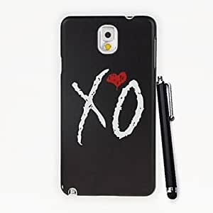 LIMME Lovely XO Heart Pattern PC Hard Case with A Stylus Pen for Samsung Galaxy Note3 N9000