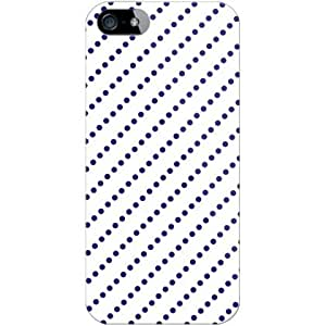 SECOND SKIN DotStripe White~Navy (Clear) | iPhone 5 Case | AAPIP5-PCCL-201-Y227 (japan import)
