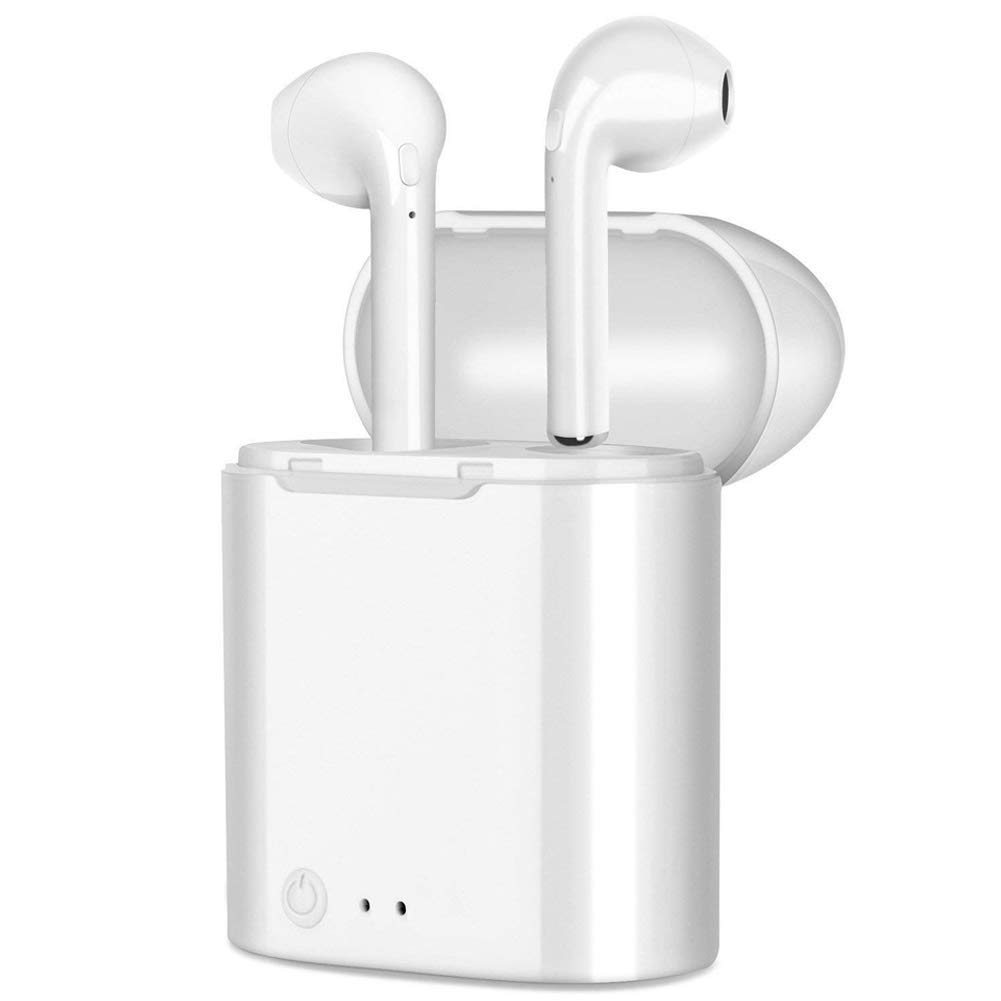 [Updated Version] Wireless Earbuds, True Wireless Earbuds Deep Bass Mini in Ear Bluetooth Earphones HD Stereo Sound Headset with Charging Case and Built in Mic - T12