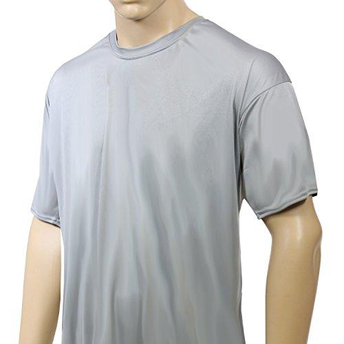 McDavid 905T Mens Half Sleeve Referee Cut Crew T Shirt Grey XX-Large [Misc.] by McDavid