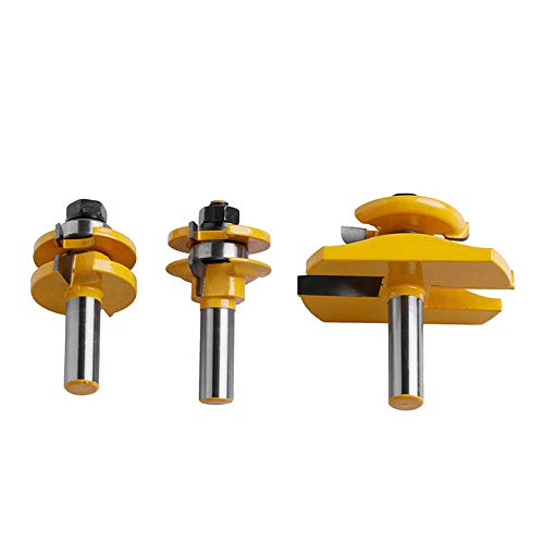 3Pcs 1/239;39; Shank Rail & Stile Ogee Blade Cutter Panel Cabinet Router Bits -