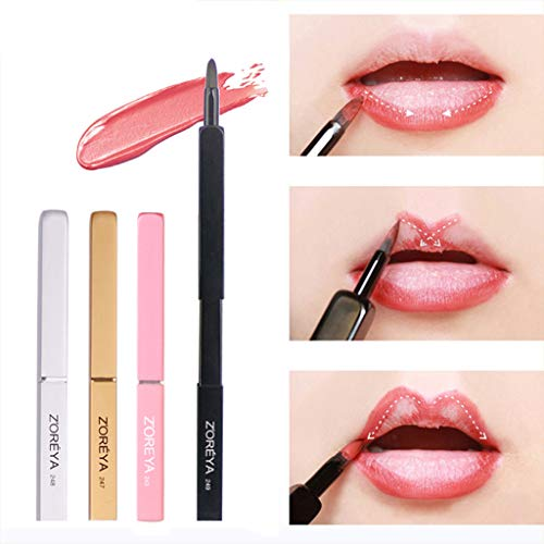 Eyeliner Compact & Waterproof Sealer - Wffo ZOREYA New Portable Rayon Makeup Brush Retractable Lip Brush-Delicate, Soft and Eastic, Can Easily Depict the Delicate Lip Shape. (A)
