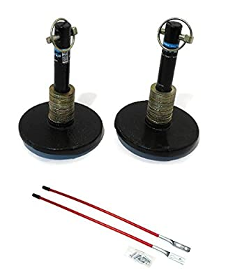 (2) New Universal SNOW PLOW SHOE SKID FOOT ASSEMBLIES w/ BLADE MARKERS Snowblade by The ROP Shop