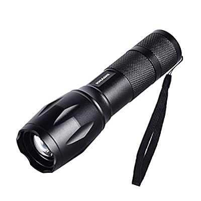 KMASHI Handheld Flashlight CREE T6 Super Bright Waterproof Torch LED Tactical Flashlight with 5 Light Modes and Adjustable Focus Zoom